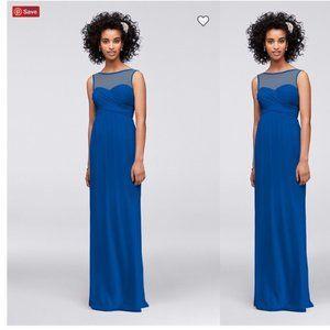 Davids bridal horizon Long Dress Illusion Gown 10